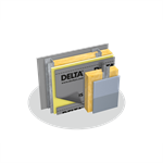 delta®-stratus sa high performance vapor permeable self-adhered water-restive and air barrier with a fourth acrylic coating layer for additional uv-resistance