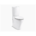 veil® intelligent compact elongated dual-flush wall hung toilet bowl and actuator plate