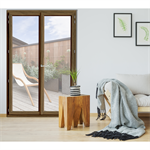 Double French door - IN'ALPHA 70 - PF2 - Covered block frame installation