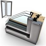 windowdoor à double bois-alu internorm hf410 5t