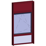 window with breathable leaf with sublight and transom