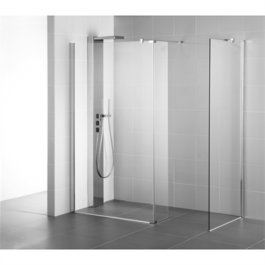 synergy panel 1400 brt/sil wetroom clear
