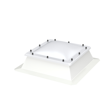 fixed flat roof window with dome – cfj isj