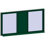 fixed window with 3 horizontal zones