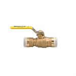 2-Piece, Full Port, Lead Free* Brass Ball Valves with Quick-Connect Technology - LFFBV-3C-QC