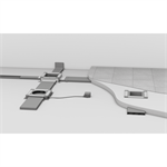 Screed-covered trunking system UK
