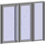 grand trafic doors - anti finger pinch version - double outward opening with right fixed