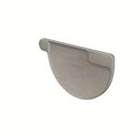 gutter stopend half-round right (size 333, prepatina graphite-grey)