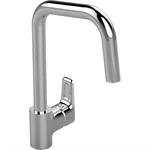 ceraplan iii kitchen mixer one hole high spout single lever hand with pull out spout