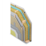exterior wall on wooden frame - ei60 - option ventilated aquaboard cladding - siniat