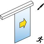 automatic sliding door (full glass) - single - no side panels -sl/psf