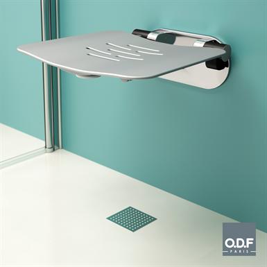 wall mounted folding shower seat
