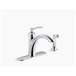 linwood™ 2- or 4-hole kitchen faucet with sidespray