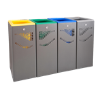 4 Units bin for recycling