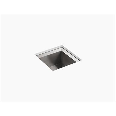 "poise® 18"" x 18"" x 9-1/2"" under-mount single-bowl bar sink"