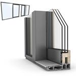 Slidingdoor 목재-ALU INTERNORM HS330 C 쿼드