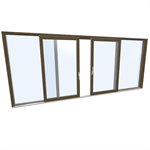 Slidingdoor quad Wood-ALU Internorm HS330 C