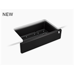 cairn® undermount single-bowl farmhouse kitchen sink with fluted design