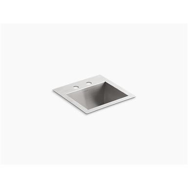 "vault™ 15"" x 15"" x 9-5/16"" top-/under-mount bar sink with 2 faucet holes"