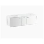 "jute® 60"" wall-hung bathroom vanity cabinet with 2 doors and 1 drawe"
