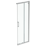 connect 2  unhand door 70 clear glass bright silver finish