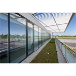 curtain wall - kadrille aa100 50mm drainage by volume glassware