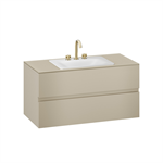 ARMANI - BAIA 1200 mm wall-hung furniture for deck-mounted basin mixer and countertop washbasin