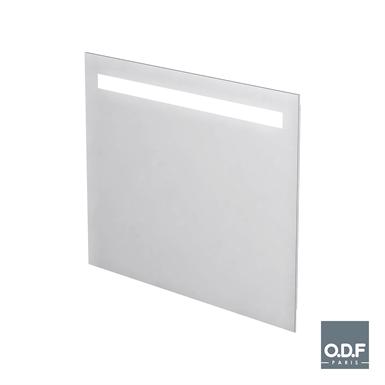 led leuchtspiegel mit 1 horizontalen lichtbande und beschlagschutz 90 x 70cm