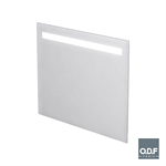 mirror with integrated horizontal led light band and defogger 90 x 70cm