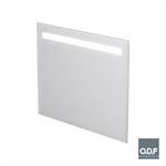 miroir led rétro éclairé une bande dépolie horizontale et antibuée 90 x 70cm