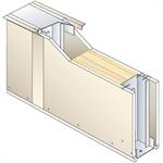 drywall pregymetal 72mm - ei30 - 33db - siniat