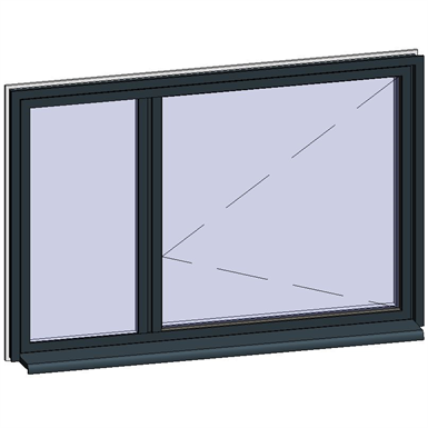 window opening inside with adjacent fixed