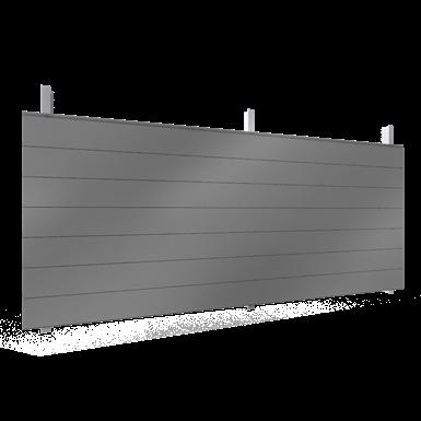 Single skin cladding with steel or aluminium sidings in horizontal pos