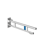 hinged support rail duo, design a with toilet roll holder and radio-controlled flushing mechanism