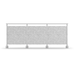 Sectional Railing Sheet Metal Side mounted