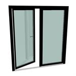 s9000 double-vent door with threshold