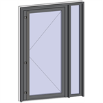 grand trafic doors - single inward opening with right fixed