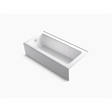 """bellwether® 66"""" x 32"""" alcove bath with integral apron and left-hand drain"""