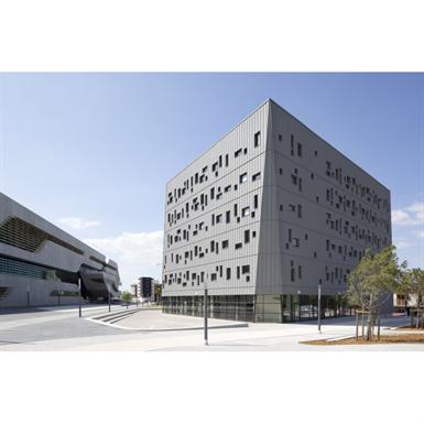 zinc cladding - vmzinc standing seam facade