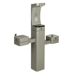 Model 3612FR, Modular Outdoor Freeze Resistant Bottle Filler and Double Drinking Fountains
