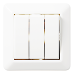 3-circuit switch RS16 flush PureWhite