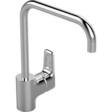 ceraplan iii kitchen mixer one hole high spout single lever hand, low pressure