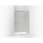 """revel® sliding shower door, 76""""h x 44-5/8 - 47-5/8""""w, with 5/16"""" thick frosted glass"""