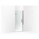 """composed® frameless pivot shower door, 71-5/8"""" h x 29-5/8 - 30-3/8"""" w, with 3/8"""" thick crystal clear glass"""