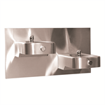 "Model 1117LN, ""Hi-Lo"" Wall Mounted Dual Stainless Steel Drinking Fountain"