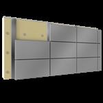 fassadenverkleidung aus stahl oder aluminiumkassetten mit dämmung