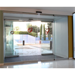 Automatic door - Bi-parting sliding with fixed leaves, top and bottom rail