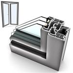 Windowdoor dyfishohet UPVC-ALU INTERNORM KF310 5T