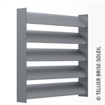sunbreaker between horizontal, vertical and standing slats - azur range
