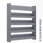 sunbreaker between horizontal, vertical and standing slats - azur range